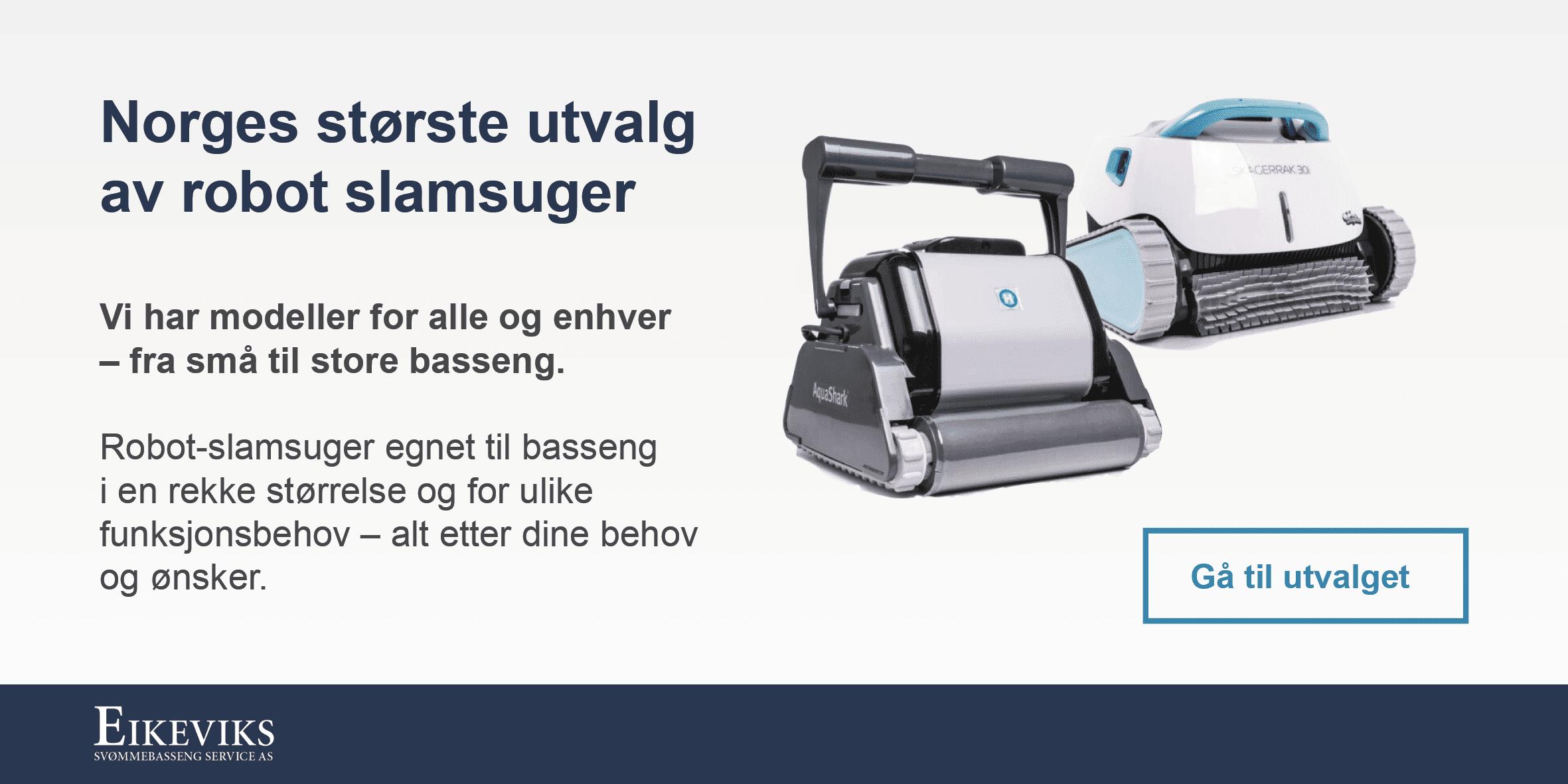 Norges største utvalg av robot slamsuger